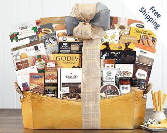 The V.I.P. Gourmet Gift Basket FREE SHIPPING