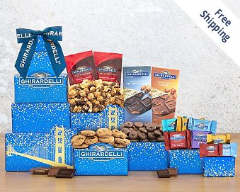 Deluxe Ghirardelli Chocolate Tower FREE SHIPPING
