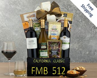 California Classic Trio Gift Basket FREE SHIPPING