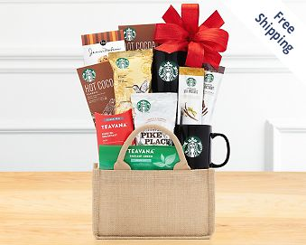 Starbucks Coffee and Teavana Gift Basket FREE SHIPPING