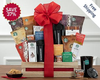 Starbucks Spectacular Gift Basket FREE SHIPPING 37% Save Original Price is $ 150
