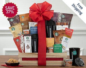 Starbucks Spectacular Gift Basket FREE SHIPPING 37% Save Original Price is $ 150