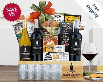 Robert Mondavi Cellar Collection Wine Basket FREE SHIPPING 4% Save Original Price is $ 125