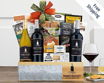 Robert Mondavi Cellar Collection Wine Basket FREE SHIPPING
