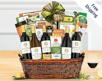 California Tasting Room Collection Gift Basket FREE SHIPPING