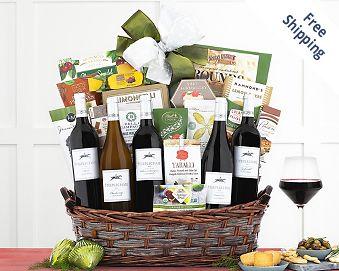 Crossridge Peak California Collection Wine Basket FREE SHIPPING