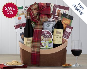 Hobson Estate California Assortment Wine Basket FREE SHIPPING 5% Save Original Price is $ 105