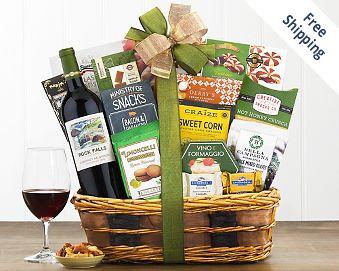 Rock Falls Cabernet Bon Appetit Wine Basket FREE SHIPPING