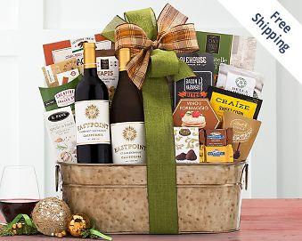 Eastpoint Cellars Coastal Connoisseur Wine Basket FREE SHIPPING