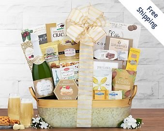 Kiarna Sparkling Grand Cuvee Gift Basket FREE SHIPPING