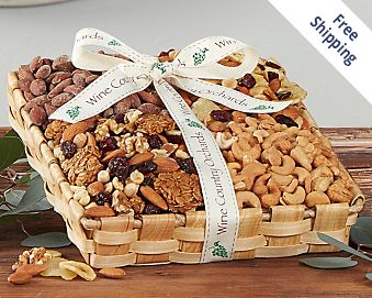 Wine Country Orchards Mixed Nut Gift Tray FREE SHIPPING