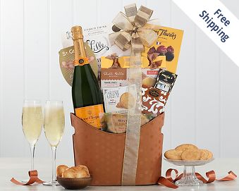 Veuve Clicquot Wine Basket FREE SHIPPING