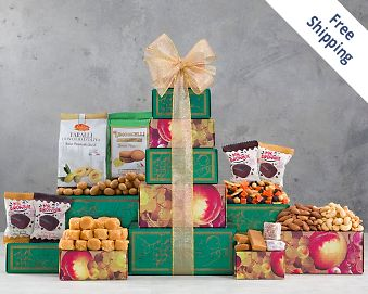 Nut, Brownie and More Gift Tower FREE SHIPPING