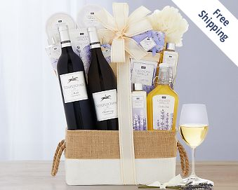 Steeplechase Vineyards Spa Collection Gift Basket FREE SHIPPING